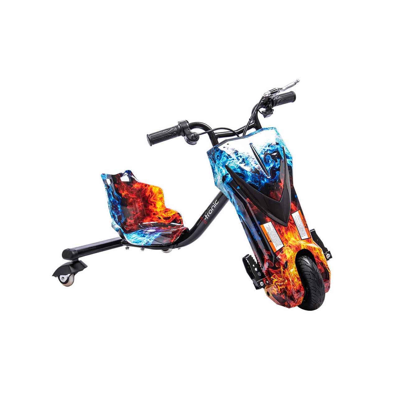 Elektrische Drift Trike Kart Vlammen Rood Blauw Linexstore Linexstore Com