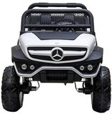 Elektrische Kinderauto Mercedes Benz Unimog Wit 2 Persoons 4x4 met Mp4 Scherm en Afstandsbediening FULL OPTIONS_