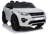 Elektrische Kinderauto Land Rover Discovery Wit 12V Met Afstandsbediening FULL OPTIONS