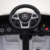 Elektrische Kinderauto Mercedes Benz GLC 63 S Wit 12V Met Afstandsbediening FULL OPTIONS_