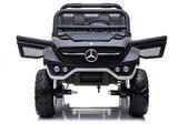 Elektrische Kinderauto Mercedes Benz Unimog Zwart 2 Persoons 4x4 met Mp4 Scherm en Afstandsbediening FULL OPTIONS_