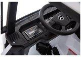 Elektrische Kinder vrachtauto Mercedes Actross Truck 4x4 Wit 24V Met Afstandsbediening FULL OPTIONS_