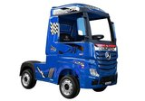Elektrische Kinder vrachtauto Mercedes Actross Truck 4x4 Blauw 24V Met Afstandsbediening FULL OPTIONS_