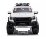 Elektrische Politie Kinderauto Ford Raptor 4x4 Wit 2 persoons 24V Met Afstandsbediening FULL OPTION_