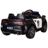 Elektrische Politie Kinderauto Zwart 12V met Afstandsbediening FULL OPTIONS_