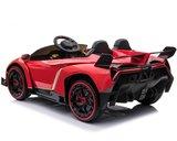 Elektrische Kinderauto Lamborghini Veneno 4x4 Rood 2 persoons 24V Met Afstandsbediening FULL OPTION_