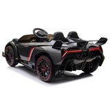 Elektrische Kinderauto Lamborghini Veneno 4x4 Grijs 2 persoons 24V Met Afstandsbediening FULL OPTION_