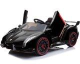 Elektrische Kinderauto Lamborghini Veneno 4x4 Zwart 2 persoons 24V Met Afstandsbediening FULL OPTION_