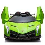 Elektrische Kinderauto Lamborghini Veneno 4x4 Gif Groen 2 persoons 24V Met Afstandsbediening FULL OPTION_