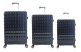 UltraTravel 3-delige reiskofferset - polycarbonaat - 360 graden draaiwielen - Blauw_