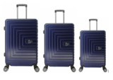 UltraTravel 3-delige reiskofferset - polycarbonaat - 360 graden draaiwielen - Navy Blauw_
