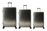 UltraTravel 3-delige reiskofferset - polycarbonaat - 360 graden draaiwielen - Silver Grijs_