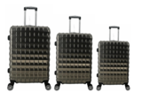 UltraTravel 3-delige reiskofferset - polycarbonaat - 360 graden draaiwielen - Grijs_