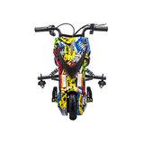 Elektrische Drift trike Kart 250W 36V Versie 2.0 Graffiti Zwart met achter vering_