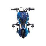 Elektrische Drift trike Kart 250W 36V Versie 2.0 Sky Blauw met achter vering_