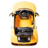 Elektrische Kinderauto Audi R8 Geel 12V Met Afstandsbediening