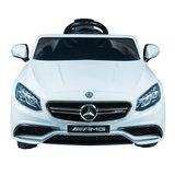 Elektrische Kinderauto Mercedes Benz S63 AMG Wit 12V Met Afstandsbediening_