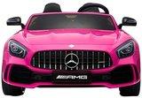 Elektrische Kinderauto Mercedes Benz GT R Roze 2 Persoons Auto 24V Met Afstandsbediening FULL OPTIONS_