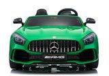 Elektrische Kinderauto Mercedes Benz GT R Groen 2 Persoons Auto 24V Met Afstandsbediening FULL OPTIONS_
