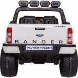 Elektrische Kinderauto Ford Ranger F650 4x4 Wit 2 persoons 24V MP4 Scherm Met Afstandsbediening FULL OPTION_