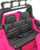 Elektrische Kinderauto Ford Ranger F650 4x4 Roze 2 persoons 24V MP4 Scherm Met Afstandsbediening FULL OPTION_