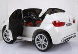 Elektrische Kinderauto BMW X6M Wit 12V Met Afstandsbediening 2 Persoons Auto_