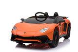 Elektrische Kinderauto Lamborghini Aventador SV Oranje 12V Met Afstandsbediening _