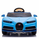 Elektrische Kinderauto Bugatti Chiron 12V met Afstandsbediening - Blauw_
