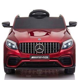 Elektrische Kinderauto Mercedes Benz GLC 63 S Rood 12V Met Afstandsbediening FULL OPTIONS