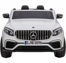 Elektrische Kinderauto Mercedes Benz GLC 63 S Wit 2 Persoons 12V Met Afstandsbediening FULL OPTIONS