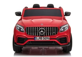 Elektrische Kinderauto Mercedes Benz GLC 63 S Rood 2 Persoons 12V Met Afstandsbediening FULL OPTIONS