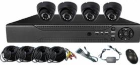 AHD Kit 1080P dome camerasysteem - zwart