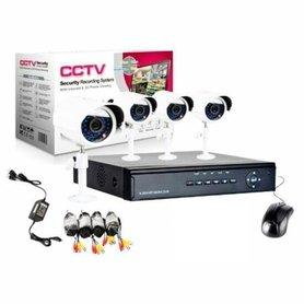 Beveiligings camera set met 4 camera's WIT CCTV