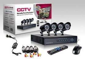Beveiligings camera set met 8 cameras ZWART CCTV