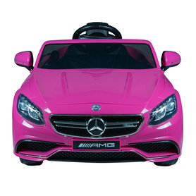 Elektrische Kinderauto Mercedes Benz S63 AMG Roze 12V Met Afstandsbediening