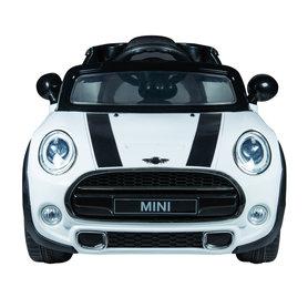 Elektrische Kinderauto Mini Cooper Wit 12V Met Afstandsbediening