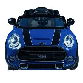 Elektrische Kinderauto Mini Cooper Blauw 12V Met Afstandsbediening