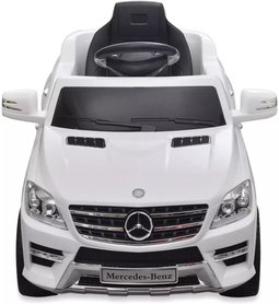 Elektrische Kinderauto Mercedes-Benz ML350 Wit 6V Met Afstandsbediening