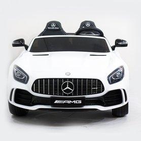 Elektrische Kinderauto Mercedes Benz GT R Wit 2 Persoons Auto 24V Met Afstandsbediening FULL OPTIONS