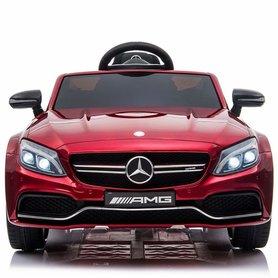 Elektrische Kinderauto Mercedes-Benz C63 AMG Rood 12V Met Afstandsbediening FULL OPTION