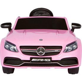 Elektrische Kinderauto Mercedes-Benz C63 AMG Roze 12V Met Afstandsbediening FULL OPTION
