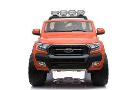 Elektrische Kinderauto Ford Ranger F650 Oranje 2 persoons MP4 Scherm 12V Met Afstandsbediening FULL OPTION