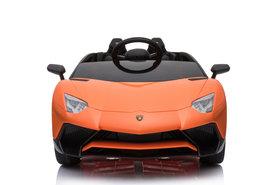 Elektrische Kinderauto Lamborghini Aventador SV Oranje 12V Met Afstandsbediening