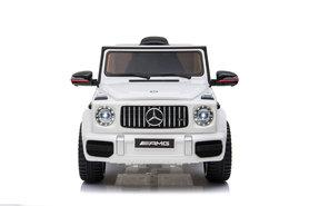 Elektrische Kinderauto Mercedes-Benz G63 AMG Wit 12V Met Afstandsbediening