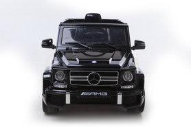 Elektrische Kinderauto Mercedes-Benz G63 AMG Zwart 12V Met Afstandsbediening FULL OPTION
