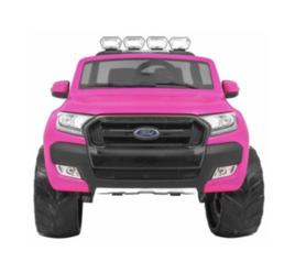 Elektrische Kinderauto Ford Ranger F650 Roze 2 persoons MP4 Scherm 12V Met Afstandsbediening FULL OPTION