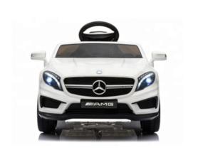 Elektrische Kinderauto Mercedes-Benz GLA45 AMG Wit 12V Met Afstandsbediening