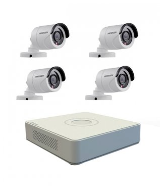 Hikvision Camerasysteem 4 kanaals DVR TURBO HD set 1080P