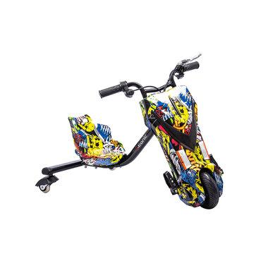 Elektrische Drift Trike Kart 250W 36V Graffiti Zwart