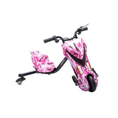 Elektrische Drift Trike Kart 250W 36V Camouflage Roze